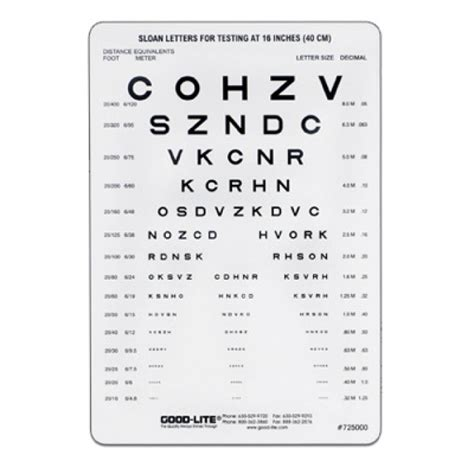 printable eye charts for near vision sloan letter near vision card