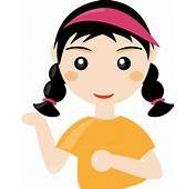 Cute Cartoon Girl PNG Transparent  Mart