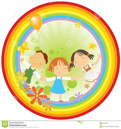 imagenes infantiles de zapateros ni 241 os y arco iris ilustraci 243 n del vector imagen de lindo