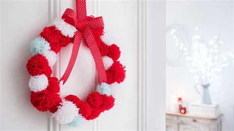 Amazing Diy Christmas Door Hanger #5: How-to-make-a-pom-pom-wreath-for-christmas.jpg