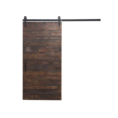Sliding Barn Door Hardware Home Depot Rustica Hardware 36 In X 84 In Rustica Reclaimed Wood Barn Door With Arrow Sliding Door