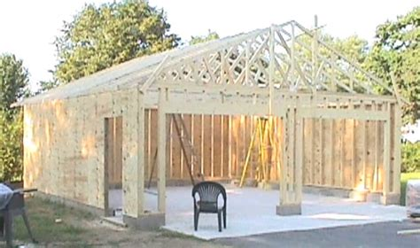 how to build own house how to build your own 24 x 24 garage and save money step