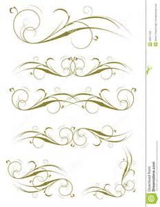 decorative design exquisite ornamental and page decoration designs stock