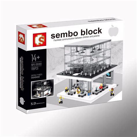 Brick Hsanhe 6405 Mini Apple Store creator apple store sembo sd6900 brick sets