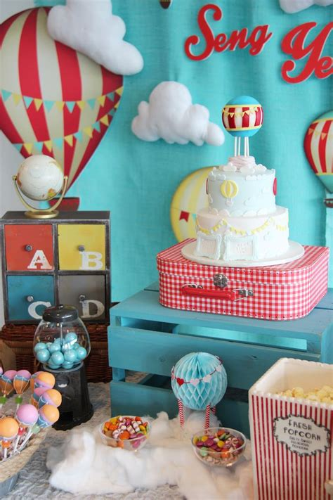themes to party kara s party ideas quot growing up up up quot hot air balloon