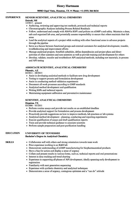 chemistry resume analytical chemist resume annecarolynbird