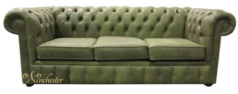 sage green leather sofa chesterfield 3 seater settee selvaggio sage green leather sofa