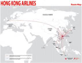 Flight Route Map by International Flights Hong Kong Airlines Route Map