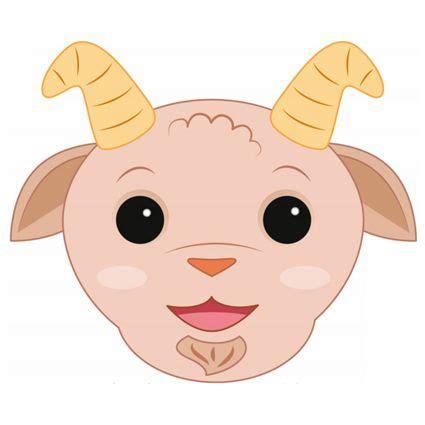 printable ram mask 103 best luna s 4th birthday 3 little pigs siete cabritos