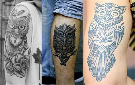 imagenes de tatuajes de buhos para hombres tatuajes de b 250 hos y lechuzas dise 241 os y significado