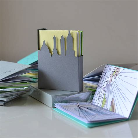 Handcrafted Books - handmade book cities box set by nancy edwards