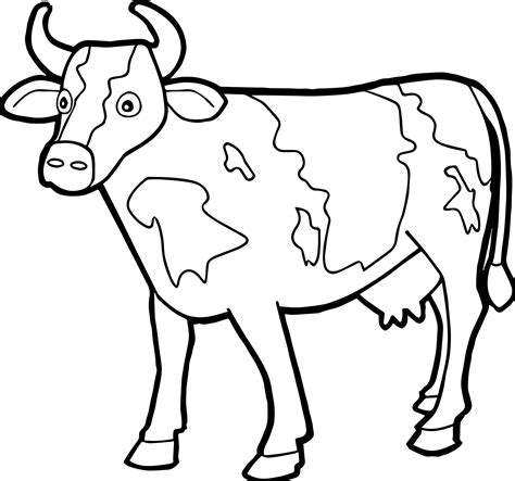 cow farm coloring page farm animal staying cow coloring page wecoloringpage