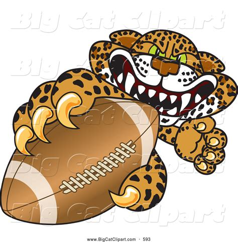 mascot clipart royalty free football stock big cat designs