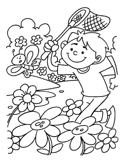 spring garden coloring pages spring garden flowers coloring pages download free