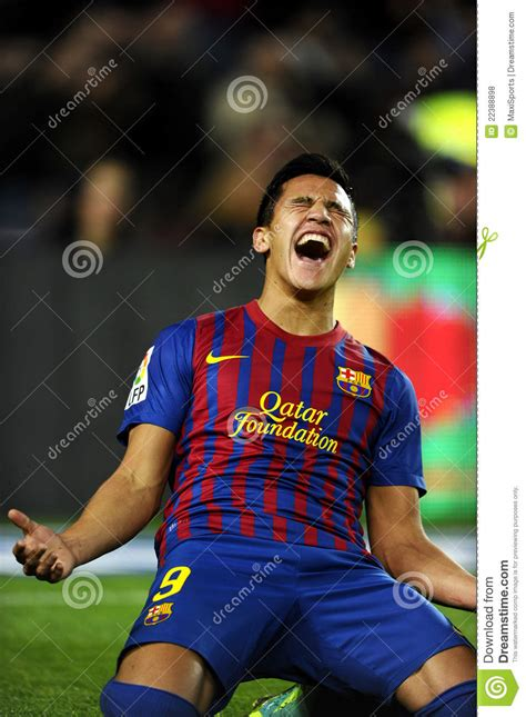 alexis sanchez barcelona jersey alexis sanchez of fc barcelona editorial stock photo