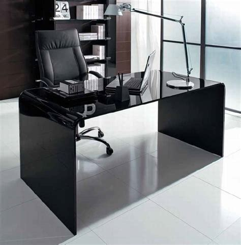 Unico Italia Golden Desk Desks Glass Office Ultra Modern Modern Glass Office Desks