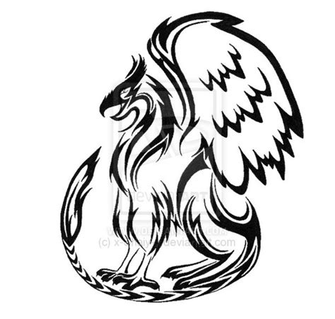 griffin tribal tattoo tribal griffin design by keira blacktalon