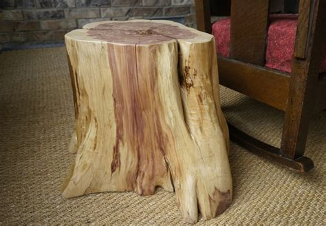 create  tree stump table hunker