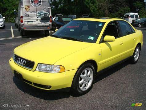 1999 brilliant yellow audi a4 1 8t quattro sedan 15453668