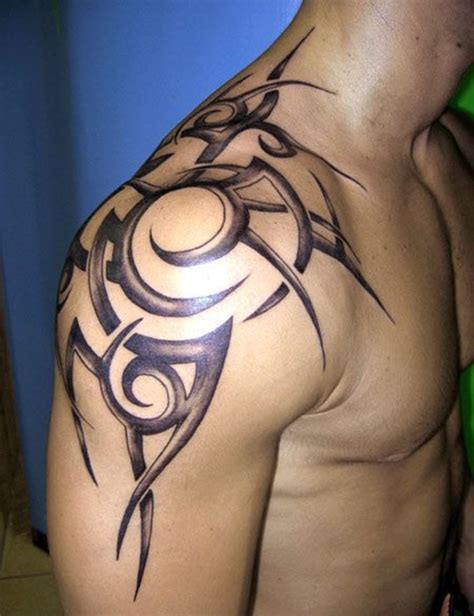 tribal shadow tattoo designs 100 exceptional shoulder designs for and