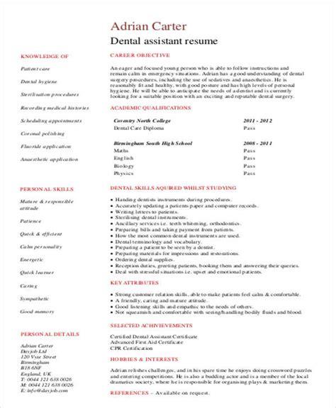 Dental Hygienist Resume by 8 Sle Dental Hygienist Resumes Sle Templates