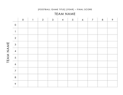 football pool scorecard office templates