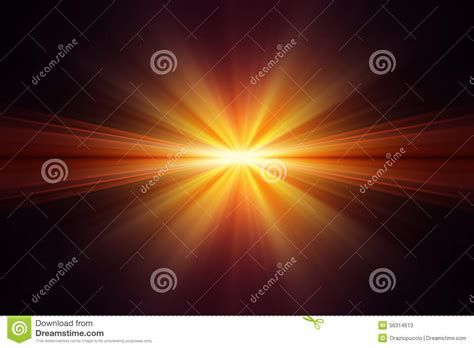 Explosion Light by Explosion Of Yellow Light On Black Background Stock Image