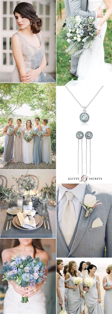 Dusty Blue and Grey Wedding Ideas   Wedding and Event Decor