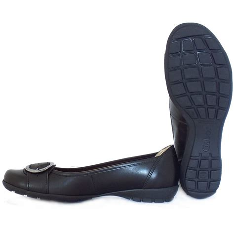 black comfortable shoes gabor garda sale comfortable flat shoes in black leather