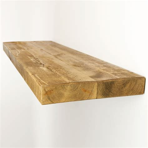 floating shelves chunky solid rustic wood available in