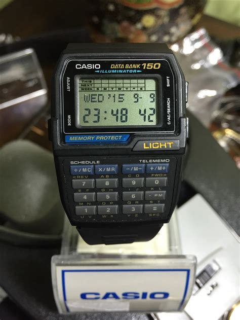 fliese 300 x 150 casio databank 1477 dbc 150 watches about time