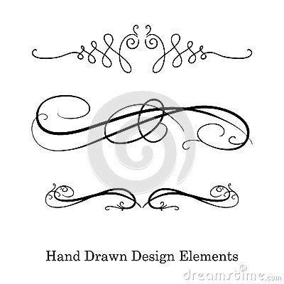 underline tattoo designs vector design element beautiful fancy curls and swirls