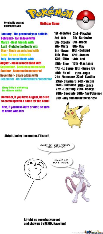 Meme Center Pokemon - pokemon birthday scenario game pokemon birthday game