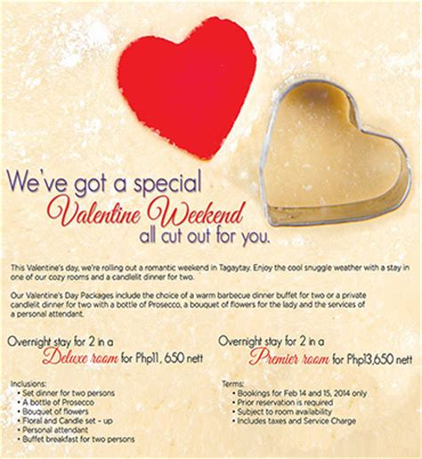 taal vista hotel valentine s day package rates promo