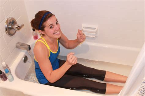 girls changing dress in bathroom a better life with burgers ice bath