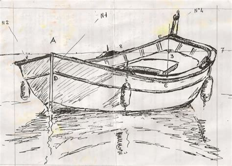 dessin d un bateau sur l eau m 233 thode pour dessiner les pointus bateaux de m 233 dit 233 ran 233 e