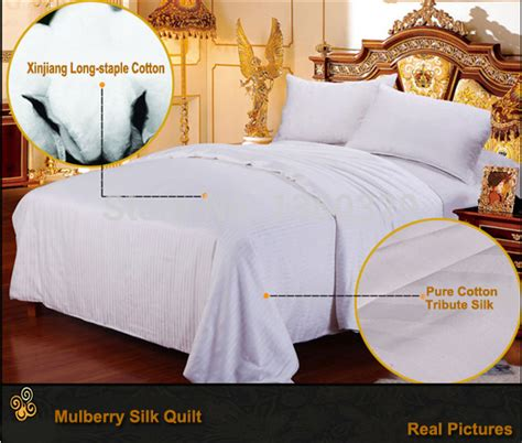Patchwork Bedspreads For Sale - 220 240cm plus size mulberry silk winter quilt for sale