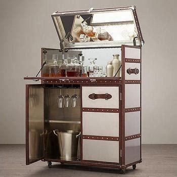 restoration hardware liquor cabinet ludlow black trunk bar cabinet