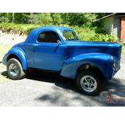 1941 WILLYS COUPE GASSER RARE 4 SPEED BLOWN SBC For Sale