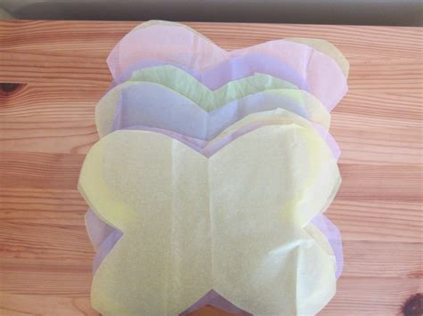 How To Make A Butterfly Out Of Tissue Paper - paper butterflies on a string images