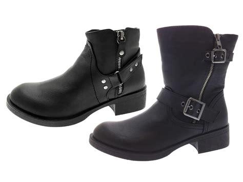 womens ankle biker boots womens biker boots mid calf ankle buckle warm winter