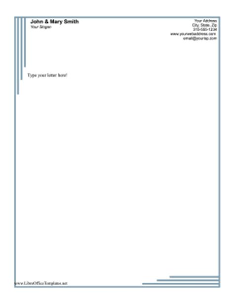 Business Letter Template Libreoffice Blue Lines Business Letterhead