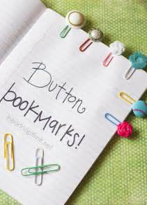 simple and cute button bookmarks tutorial
