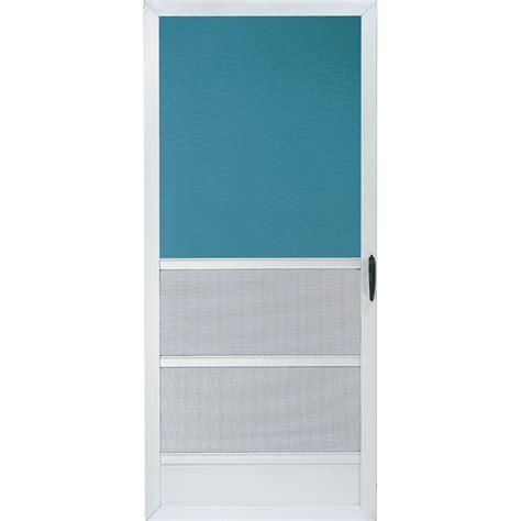 Screen Doors Lowes by Shop Comfort Bilt Oceanview White Aluminum Screen Door