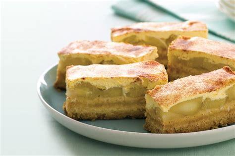 apple amp cinnamon slice recipe taste com au