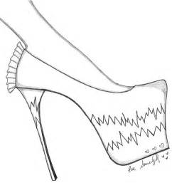 paper doll eve a dreams pink stiletto shoe template