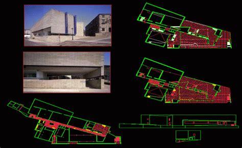 museum floor plan dwg museum dwg