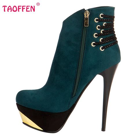 high heel ankle boots folck toe thin heels