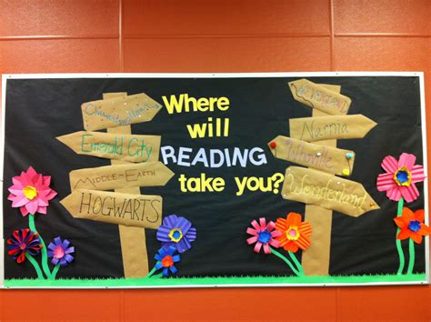 reading themes for schools spring library bulletin board inspired by various other