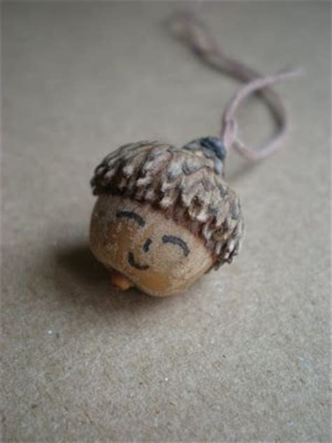 cute acorn pattern acorn face necklace fun family crafts